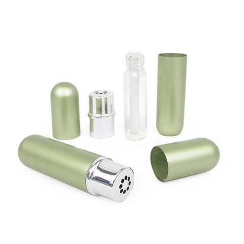 Aluminum & Glass Refillable Essential Oil Personal Inhalers