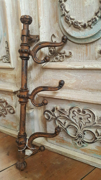 NEW Set of 3 Wall Hat Coat Rustic Door HOOKS French Vintage Shabby Chic Metal Rack