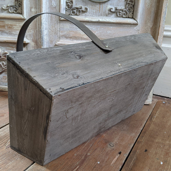 NEW French Vintage Retro Wooden Metal RUSTIC Shabby Chic TRUG Trough Basket Tray