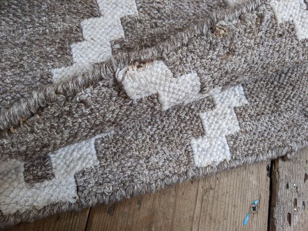 New Large 10x8' Indian by SAFAVIEH Natural Beige Taupe Ivory 100% Wool KILIM Kelim HAND WOVEN Carpet Rug Runner 8x10'
