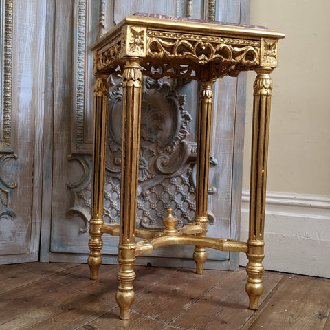 New Marble VINTAGE Gold Gilt French Louis Shabby Chic BED SIDE Lamp Sofa Table