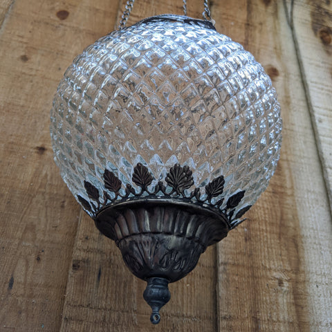 New Hanging Clear GLASS Shabby Chic French Style Rustic CANDLE Light LANTERN Chandelier