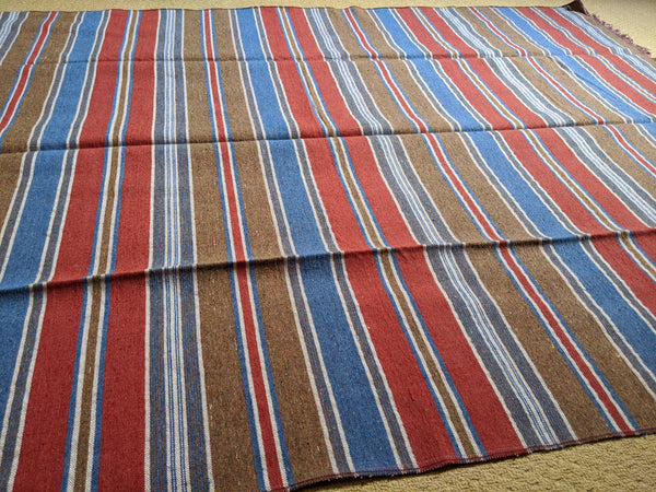 New 194x136cm INDIAN KILIM KELIM 100% COTTON Aztec Design HAND WOVEN Throw Bed Sofa Spread