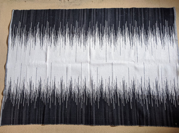 New 160x230cm Black & Cream INDIAN COTTON Aztec Design HAND WOVEN Carpet Rug Runner