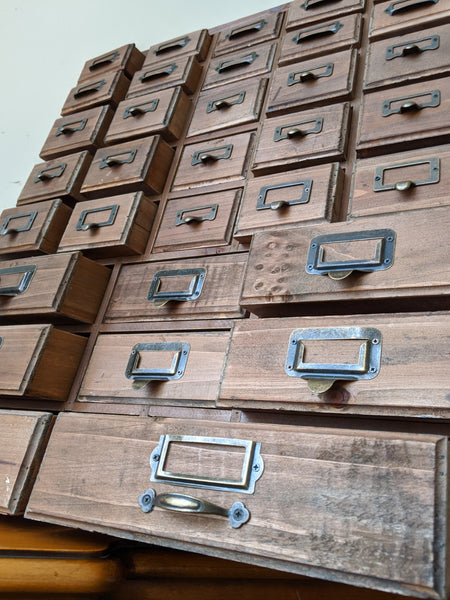 New VINTAGE Retro Rustic Apothecary Industrial 33 Multi Drawer PINE Wood Storage Office Chest Unit