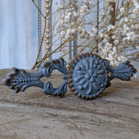 NEW French Vintage GREY Shabby Chic Metal Rustic Door Drawer Knob Pull Handle