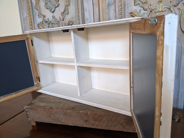 New VINTAGE French Cream Shabby Chic Rustic Wall BATH Mirror Cabinet Cupboard Unit