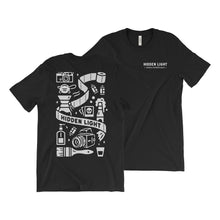 Load image into Gallery viewer, Limited Edition COVID Essentials design screen printed T-shirt