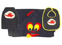 Dinosaur Towel, Bib and Bath Mitt Set