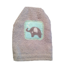 Load image into Gallery viewer, Elephant Towel, Bib and Bath Mitt Set
