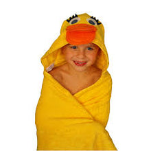 Load image into Gallery viewer, Duck Towel, Bib and Bath Mitt Set