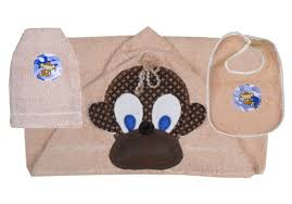 Monkey Towel, Bib and Bath Mitt Set