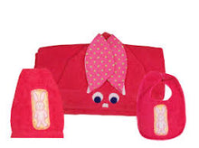 Load image into Gallery viewer, Bunny Towel, Bib and Bath Mitt Set