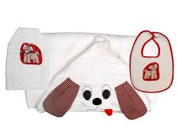 Puppy Towel, Bib and Bath Mitt Set