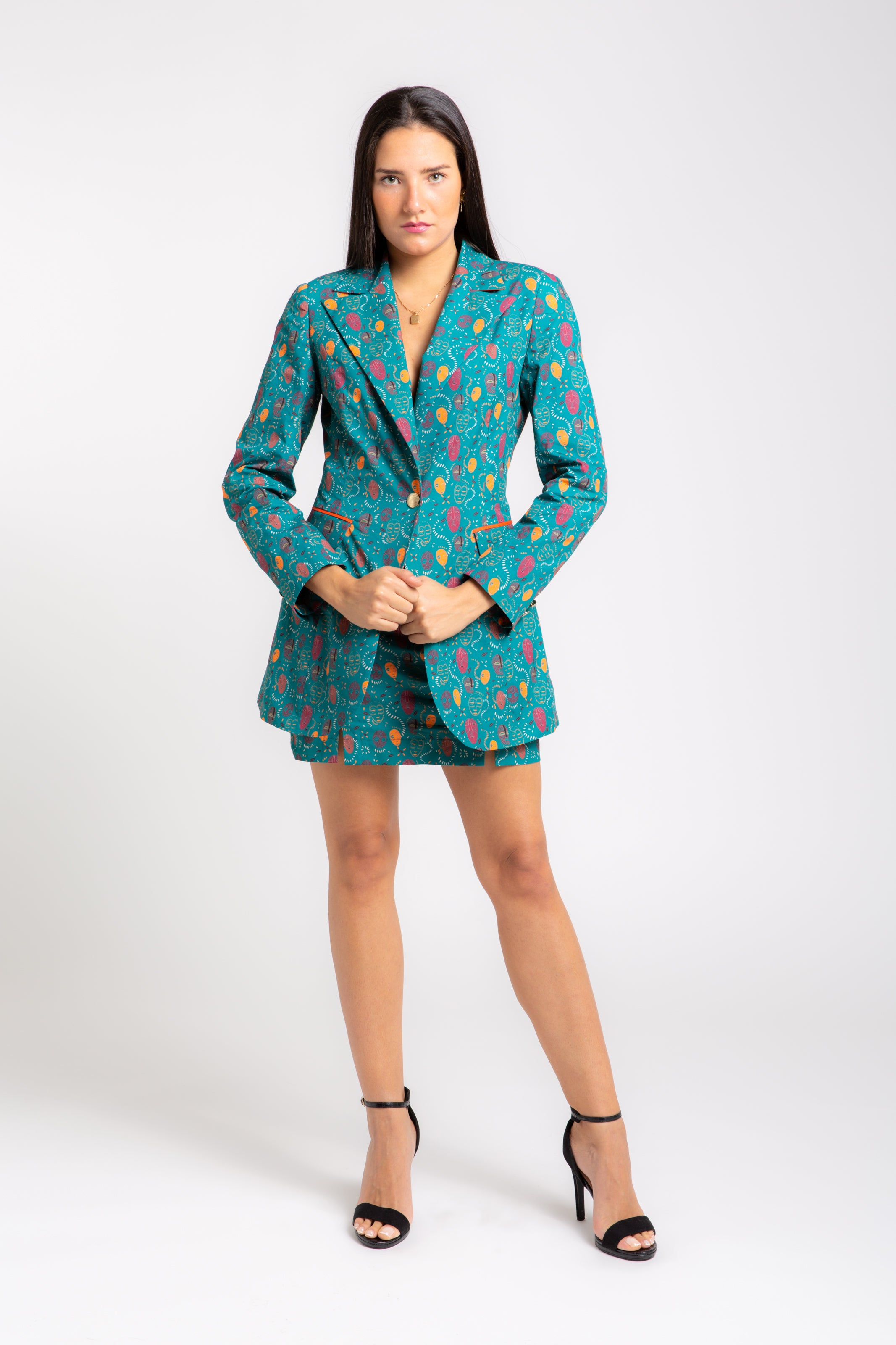 ZOYA  Printed Single-breasted Blazer