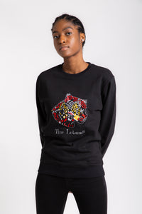 CONGO BLACK  Leopard Unisex Sweat-shirt