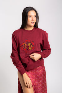 CONGO BURGUNDY  Leopard Unisex Sweat-shirt