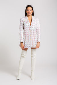 MALAIKA  Printed Single-breasted Blazer