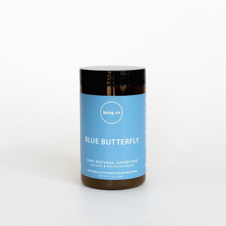 Blue Butterfly Pea Powder -100% Natural - Being Co.
