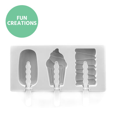 Mini Summer Ice Cream Shaped Moulds - Being Co.