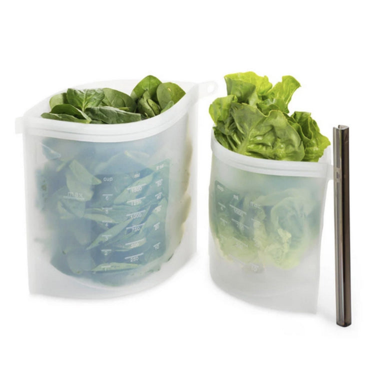 Silicone Food Storage Bags - 3 sizes in pack - FDA & BPA approved - Being Co.