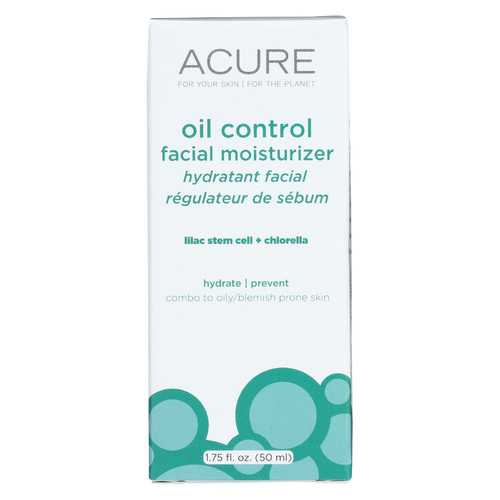 Acure - Oil Control Facial Moisturizer - Lilac Extract and Chlorella - 1.75 FL oz.