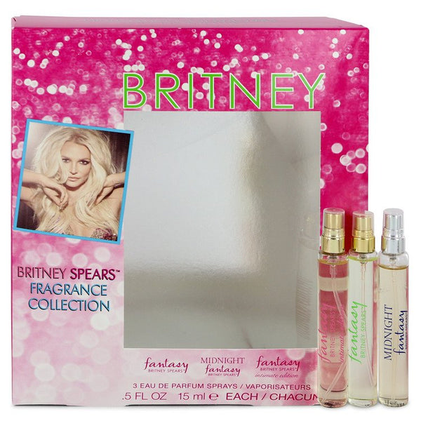 Fantasy by Britney Spears Gift Set - .5 oz Fantasy Min EDP Spray + .5 oz Fantasy Midnight Mini EDP Spray + .5 oz Fantasy Intimate Edition Mini EDP Spray for Women