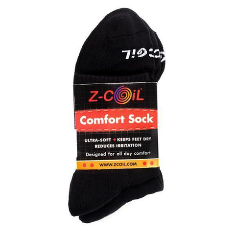 Z-CoiL Comfort Socks - Ankle Black - 3 Pack Socks Z-CoiL