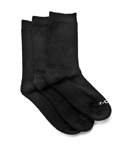 Z-CoiL Comfort Loose Fit Diabetic Mid Calf Black Socks - 3 Pack Socks Z-CoiL