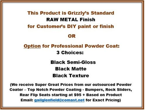 Grizzly Metalworks Winch Plate Bumper