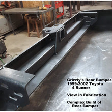 "Load image into Gallery viewer, 1999-2002 Toyota 4 Runner Custom USA Front Winch Plate Hybrid Tubing Bumper $875 & Rear Plate Bumper $695-  PRECISION WELDED USA METAL! NOT FROM CHINA & NOT CHINA ""BOLT TOGETHER"" SECTIONS!"