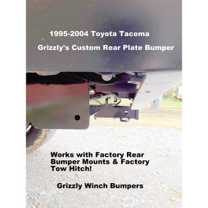 "1995-2004 Toyota Tacoma Rear Classic Plate Bumper-Models also for Body Lifts  WELDED USA METAL! NOT CHINA ""BOLT TOGETHER"" SECTIONS!"
