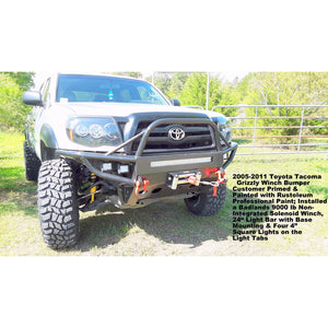 2005-2010 Toyota Tacoma Grizzly Metalworks Front Winch Bumper & Rock Sliders