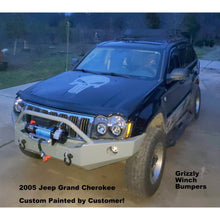 "Load image into Gallery viewer, 2005-2007 Jeep Grand Cherokee WK Front Winch Plate Bumper- WELDED USA METAL! NOT CHINA ""BOLT TOGETHER"" SECTIONS!"