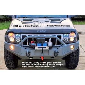 2005-2007 Jeep Grand Cherokee WK Custom Front Winch Plate Bumper (Non-Winch Work Model Available)-Front Bumper-Grizzly Metalworks-Jeep-Weld Winch Plate Mount-Grizzly Metalworks