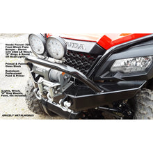 "Load image into Gallery viewer, Honda Pioneer 500 CUSTOM USA FRONT WINCH PLATE BUMPER INCLUDES PreRunner Hoop; 2 ""D"" Ring Mounts & Welded Light Tab for Light Bar or Off Road Light Install-Price Includes Shipping-FedEx Ground-Lower 48 States"