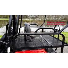 Load image into Gallery viewer, Honda Pioneer 500 REAR WELDED FLIP SEAT & BAJA CAGE-Heat Shield, Black Cushion Set; Upper & Handle Bar Grab Bars! 13 Ga Expanded Flat/Smooth or 14 Ga Solid Sheet Metal - Both Heavy Duty-Custom Options