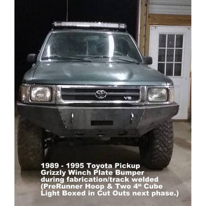 "1989-1995 Toyota Pickup Truck Front Winch Plate Bumper -  WELDED USA METAL! NOT CHINA ""BOLT TOGETHER"" SECTIONS"