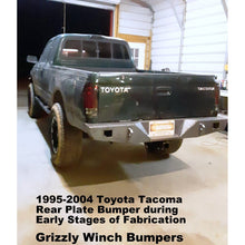 "Load image into Gallery viewer, 1995-2004 Toyota Tacoma Rear Classic Plate Bumper-Models also for Body Lifts  WELDED USA METAL! NOT CHINA ""BOLT TOGETHER"" SECTIONS!"