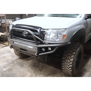 2005-2011 Toyota Tacoma Custom USA Front Winch Plate Hybrid Tubing Bumper- Welded -(Non-Winch Model Available)  PRECISION WELDED MODEL - USA Metal! High Quality! USA!