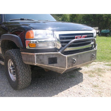 Load image into Gallery viewer, gmc sierra 2500 3500 front winch bumper grizzlymetalworks.com