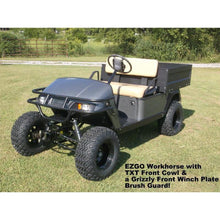Load image into Gallery viewer, Grizzly Metalworks EZGO TXT Front Winch Plate Brush Guard