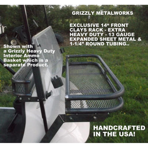 "EZGO TXT Front 14"" Clays Rack/Basket Interior Ammo Basket Works with Fold Down Windshield"