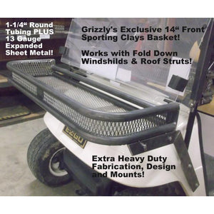 EZGO TXT Front Clays Basket - Works with Fold Down Windshield
