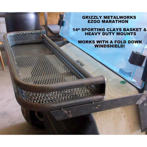 Golf Cart Front Sporting Clays Basket works with fold down windshield