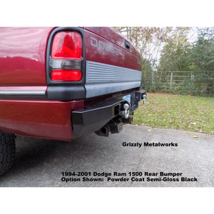 "1994-2001 Dodge Ram 1500 Rear Plate Bumper (Option-""Step Up Plate Feature"")-  WELDED USA METAL! NOT CHINA ""BOLT TOGETHER SECTIONS"