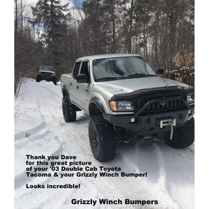 1995-2004 Toyota Tacoma Custom USA Front Winch Plate Bumper Includes Subframe!  (Non-Winch Model Available)  PRECISION WELDED MODEL - USA Metal! High Quality! USA!