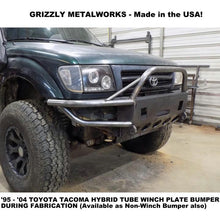 "Load image into Gallery viewer, 1995-2004 Toyota Tacoma Hybrid Winch Bumper-INCLUDES FREIGHT-See Details- (Raw Metal or Option Powder Coat) WELDED USA METAL! NOT CHINA ""BOLT TOGETHER"" SECTIONS!"