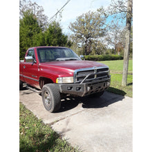 "Load image into Gallery viewer, 1994-2001 Dodge Ram 1500 Front Winch Plate Bumper-INCLUDES FREIGHT-See Details-(Raw Metal or Option Powder Coat) WELDED USA METAL! NOT CHINA ""BOLT TOGETHER"" SECTIONS"