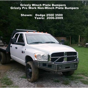 "2006-2009 Dodge Ram 2500 3500 Front Winch Plate Bumper- WELDED USA METAL! NOT CHINA ""BOLT TOGETHER"" SECTIONS!"
